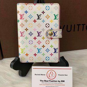 Louis Vuitton agenda Multicolor White